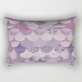 Pale Pink Pastel Glamour Fish Skin Scale Pattern Rectangular Pillow