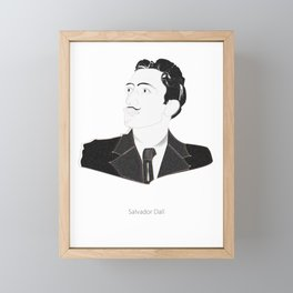 Digital Sketch Of Salvador Dali Framed Mini Art Print