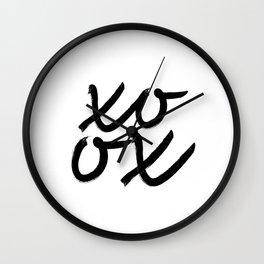 XO OX Print, Typography Art, Hugs And Kisses, xo Wall Art, Printable Typography Wall Clock