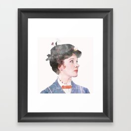 Mary Poppins - Watercolor #2 Framed Art Print