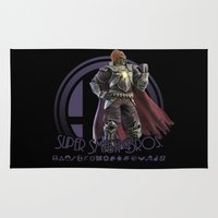super smash bros Area & Throw Rugs featuring Ganondorf - Super Smash Bros. by Donkey Inferno