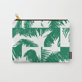 Palm Leaf Pattern Green Carry-All Pouch
