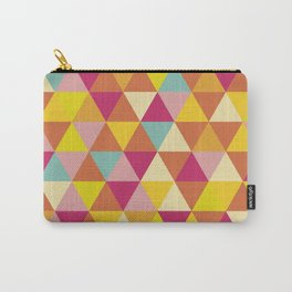 Orange yellow pink geometrical abstract triangles Carry-All Pouch