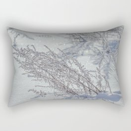 Winter grass Rectangular Pillow