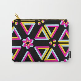 Vibrant Penrose Triangle Pattern Carry-All Pouch