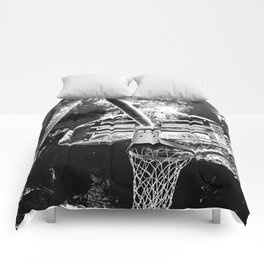 Black And White Basketball Art Comforters