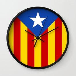 Estelada Blava - Senyeraestelada, HQ Banner version Wall Clock