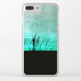 seagrass at sunrise Clear iPhone Case