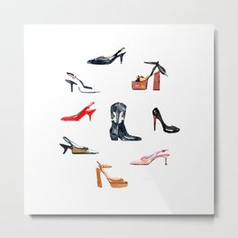Fashion Shoes Metal Print