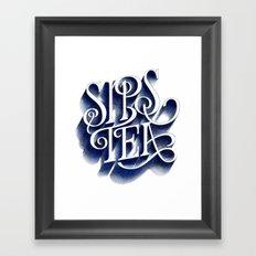 Sips Tea Framed Art Print