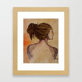 turning away no. 2 Framed Art Print