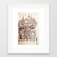 venice Framed Art Prints featuring Venice by Justine Lecouffe