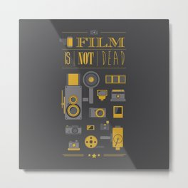 Film is not dead  Metal Print