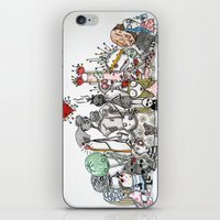 tim burton iPhone & iPod Skins featuring Tribute Tim Burton by Brigitta
