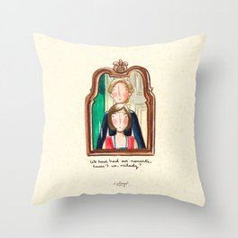 Maid and Lady Throw Pillow