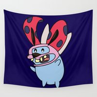 courage Wall Tapestries featuring Catbug Courage by Ilse S