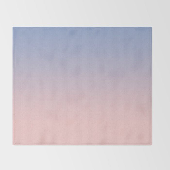 Bien connu Pantone Rose Quartz and Serenity Ombre Throw Blanket by  OF24