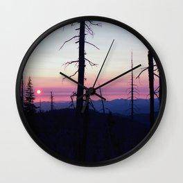 Outrun Natural Wall Clock
