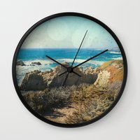 big sur Wall Clocks featuring Big Sur - Bonafide by Jenndalyn