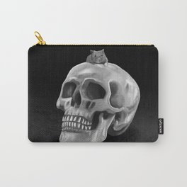 Little mouse and skull - BW Carry-All Pouch