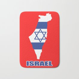 Israel Flag Jews Muslims Holy Star Gift Bath Mat