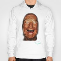 robin williams Hoodies featuring Robin Williams Abstracto by Tazmatic