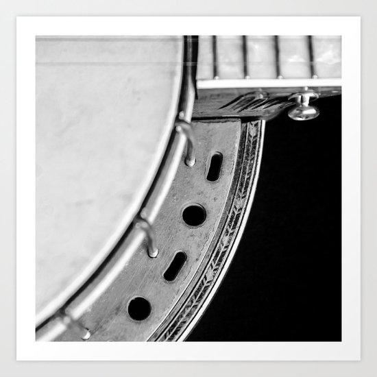 Concertone Banjo Detail  Art Print