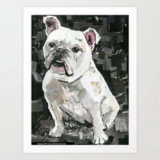 Winnie the Bulldog Art Print