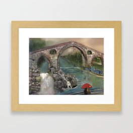 The Roman Bridge, Asturias  Framed Art Print