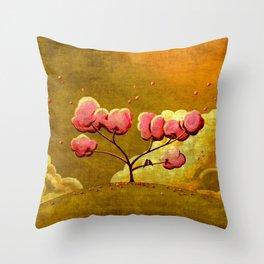 Morning Glory Tree Throw Pillow