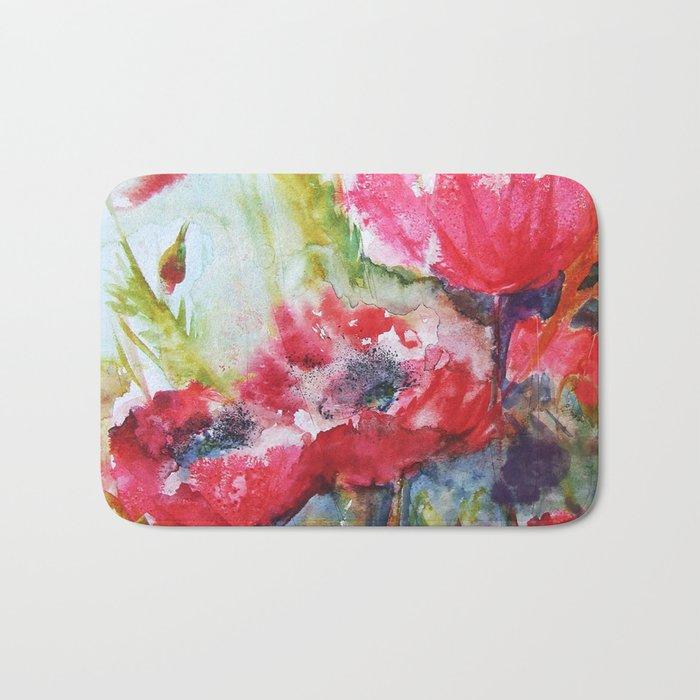 Poppies 06 Bath Mat