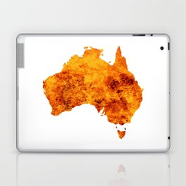 Australia Map With Flames Background Laptop & iPad Skin