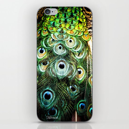 Feathers of a peacock  iPhone & iPod Skin