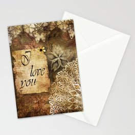 Old picture. Grunge. Stationery Cards