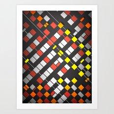 Breakout Pattern Art Print