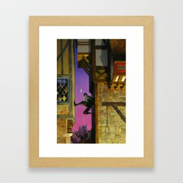 Shadow Climber Framed Art Print