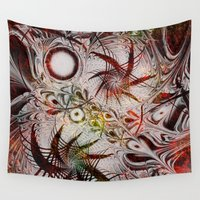 holiday Wall Tapestries featuring Holiday by Klara Acel
