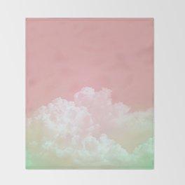 Dreamy Watermelon Sky Throw Blanket