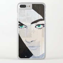 Women is space Clear iPhone Case