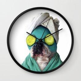 Dog SPA Art Print Wall Clock