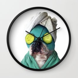 Dog SPA Art Print Wall Clock