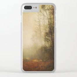 Fall Meadow Clear iPhone Case