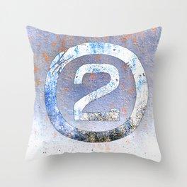 Bold Number 2 Throw Pillow