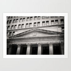 Federal Reserve Bank of Chicago Black and White Art Print