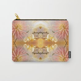 Dahlias and Orchids flowers in reflect Carry-All Pouch