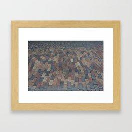 down the brick road Framed Art Print