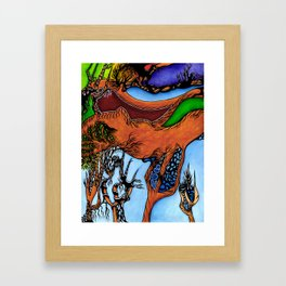 Proof by Induction Framed Art Print