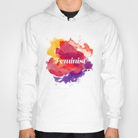 feminism Hoodies featuring Feminism Watercolor by Pia Spieler