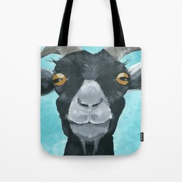 goat art.  'Willie from acrylic on canvas goat painting Tote Bag
