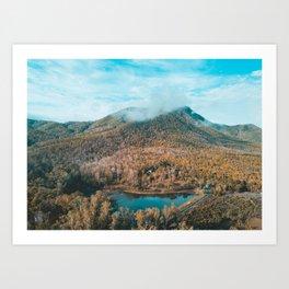 EXPLORE - Mountain Outside Chiang Mai Thailand Art Print